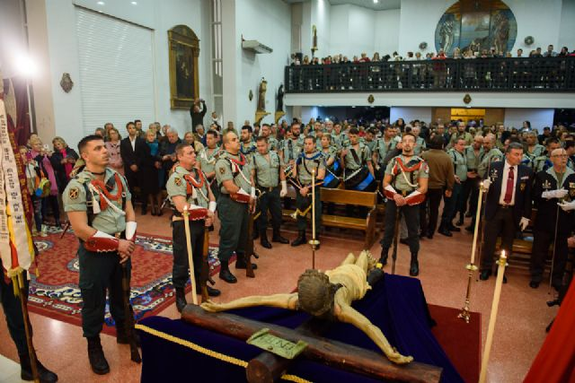 Los desfiles de los antiguos legionarios en el Puerto y de las promesas en Mazarrón retoman el calendario de procesiones en el municipio, Foto 1