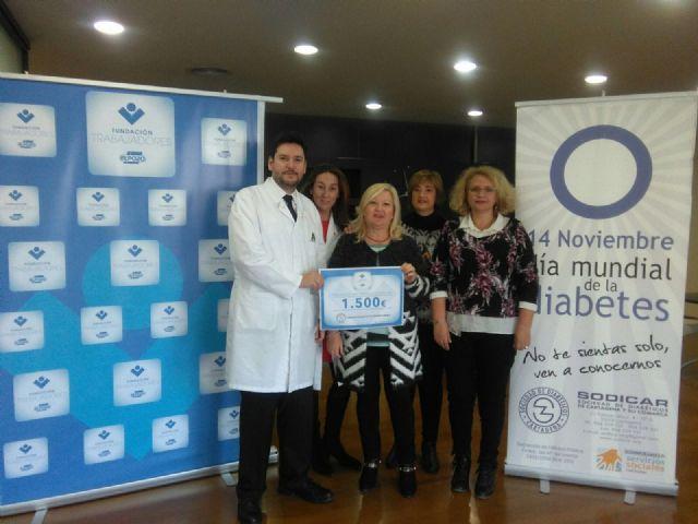 ElPozo Alimentación y sus trabajadores donan 1.500 euros a la sociedad de diabéticos de Cartagena, Foto 1