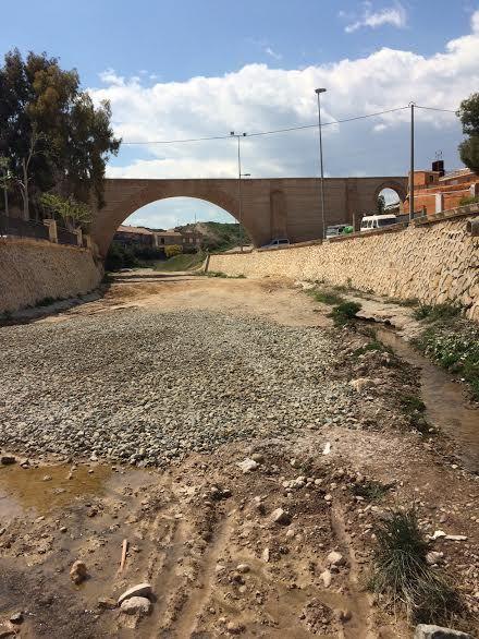 Acometen obras de adecuación del cauce de la rambla de La Santa a su paso por el casco urbano, Foto 2