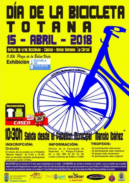 "The Bicycle Day is celebrated this Sunday, April 15, with the exit of the Sports Pavilion ""Manolo Ibáñez"" - 2"