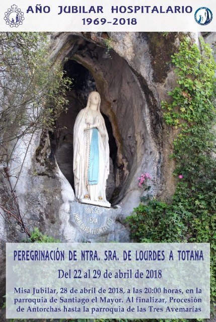 Acts to be celebrated on the occasion of the visit of the Virgin of Lourdes to Totana