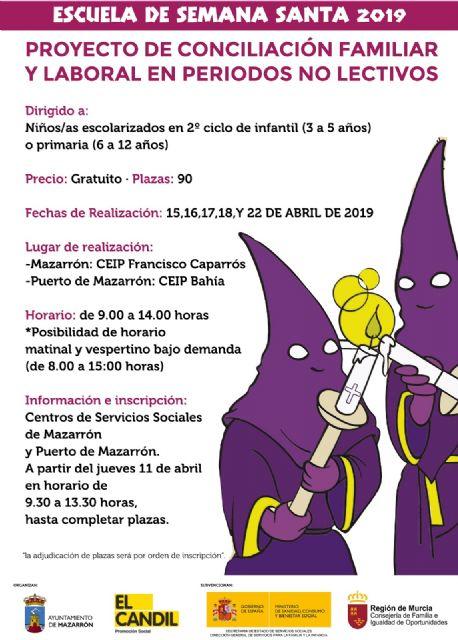 Escuela de Semana Santa en los colegios Caparrós y Bahía a partir del 15 de abril, Foto 1