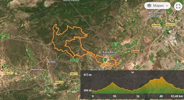 [Este es el recorrido de la XXIII Bike Maratón Ciudad de Totana 2021