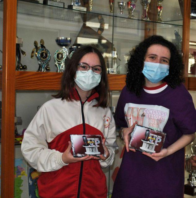 Doble premio nacional de Oratoria en Torre Pacheco al lograr dos alumnas ser las mejores oradoras de España - 1, Foto 1