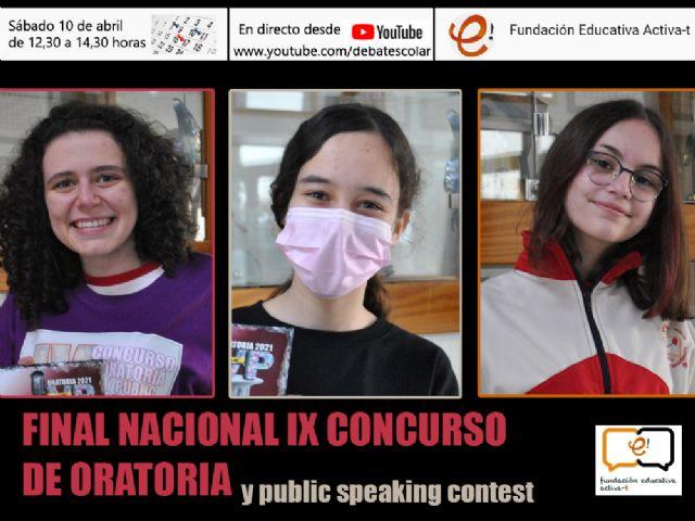 Doble premio nacional de Oratoria en Torre Pacheco al lograr dos alumnas ser las mejores oradoras de España - 3, Foto 3