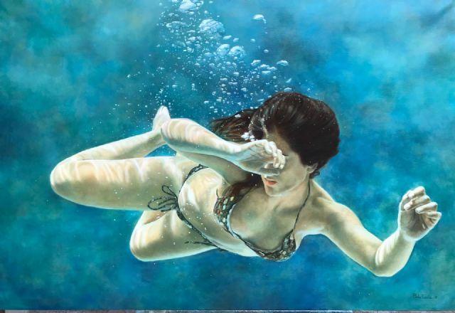 Perla Fuertes inaugura hoy su exposición ´Caja de agua II´ en el Real Casino de Murcia, Foto 1