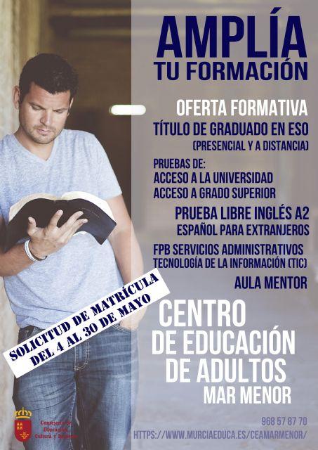 Abierto el plazo de matrícula del Centro de Educación de Adultos de Torre Pacheco - 1, Foto 1