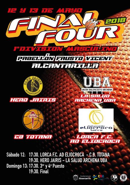 Presentada la Final A4 1ª División de baloncesto de masculino, que se disputará este próximo fin de semana en Alcantarilla, Foto 5