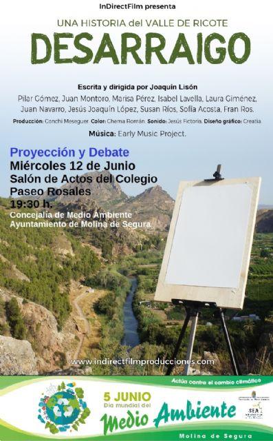 El Ayuntamiento de Molina de Segura presenta la película Desarraigo el miércoles 12 de junio, dentro de las actividades conmemorativas del Día Mundial del Medio Ambiente 2019 - 1, Foto 1