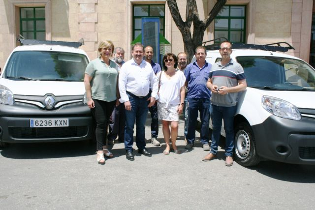 Three new vehicles-vans are purchased for the Municipal Water Service in order to improve and expand the fleet
