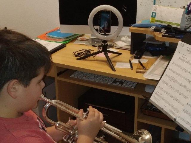 La escuela de música y la Agrupación Musical de Alhama mantienen su actividad durante el estado de alarma - 1, Foto 1