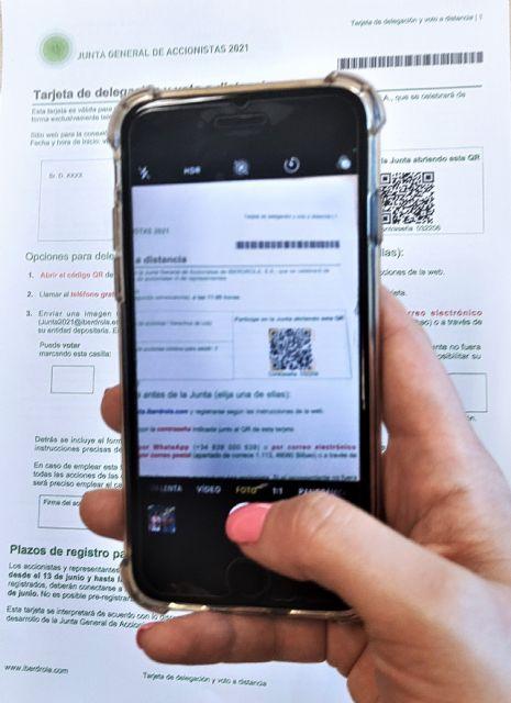 Iberdrola, primera compañía del Ibex 35 que permite votar a sus accionistas en la Junta mediante un código QR - 2, Foto 2