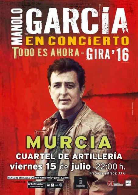 """Manolo García """"Todo es ahora"""", el próximo viernes en Murcia - 1, Foto 1"""