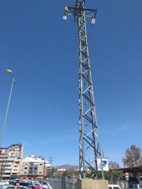 El PSOE pide el soterramiento de la línea de alta tensión que existe frente a la estación de autobuses de Lorca - 4, Foto 4