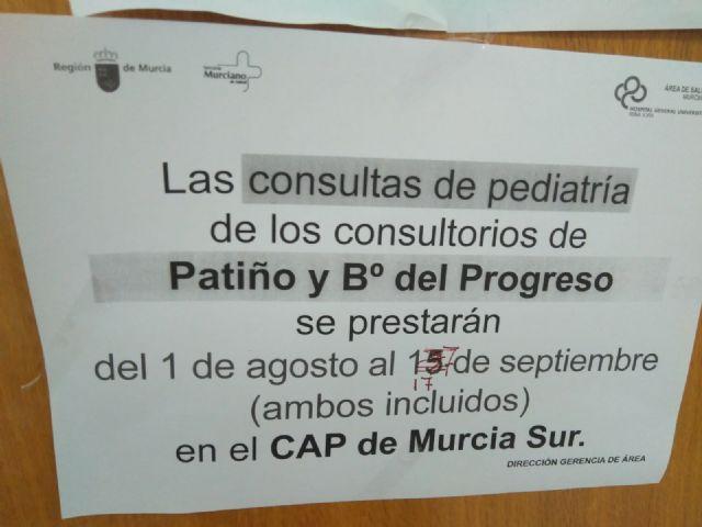 Cambiemos Murcia denuncia que las rebajas también hayan llegado a la asistencia sanitaria en los barrios y pedanías - 1, Foto 1