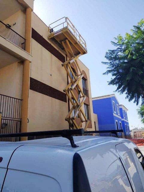 """Las obras de rehabilitación del teatro de """"La Cárcel"""" se centran estas semanas en el arreglo y acondicionamiento de la cubierta de esta infraestructura, Foto 2"""