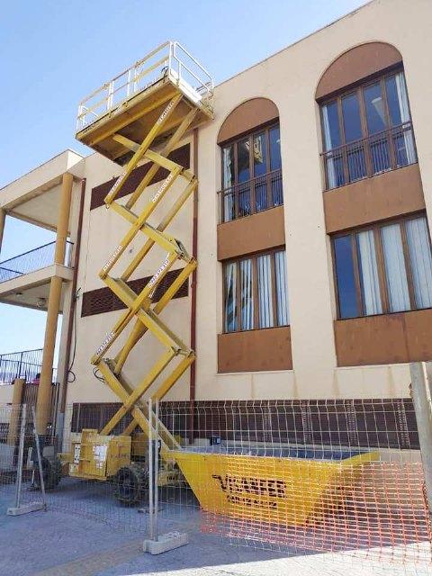 """Las obras de rehabilitación del teatro de """"La Cárcel"""" se centran estas semanas en el arreglo y acondicionamiento de la cubierta de esta infraestructura, Foto 3"""