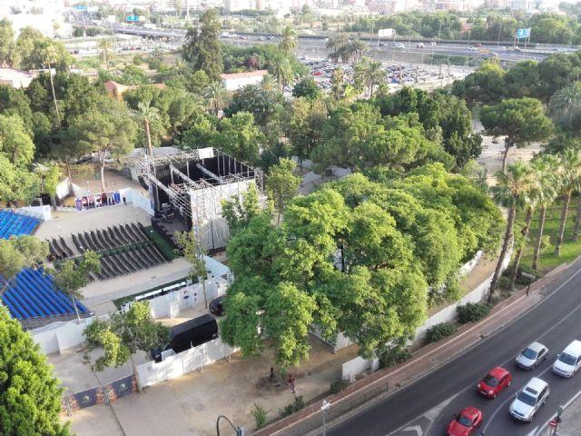 La Plataforma por el Patrimonio reivindica que el jardín del Malecón deje de ser un recinto ferial - 2, Foto 2