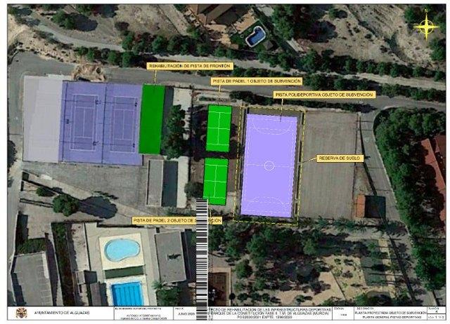 Concedido el Plan de Obras y Servicios 2020-21 para la Rehabilitación del Polideportivo de Alguazas - 1, Foto 1