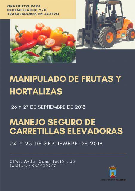 Nuevos cursos gratuitos dirigidos a desempleados y a trabajadores del sector agrario, Foto 1