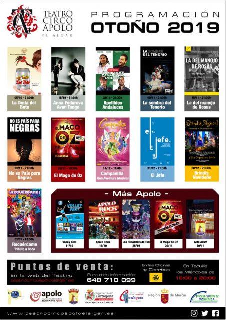 Programación Teatro Circo Apolo, El Algar, Foto 1