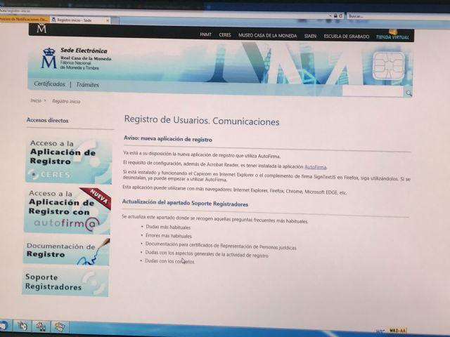 Ya está en marcha la Oficina de Registro de certificados digitales en el Ayuntamiento de Puerto Lumbreras - 1, Foto 1