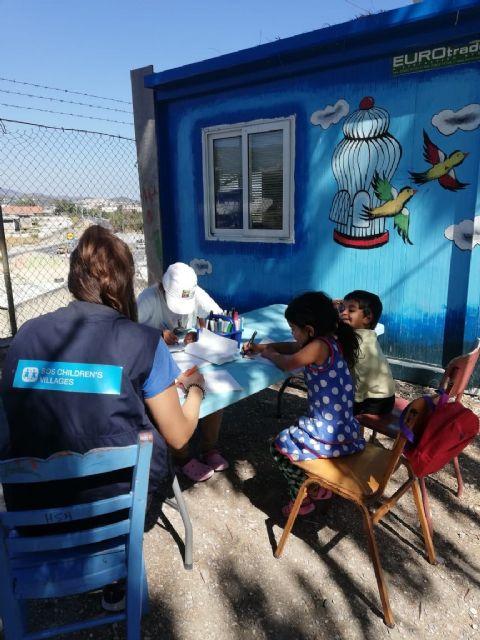 Aldeas Infantiles SOS detecta altos niveles de estrés y de angustia en los niños y las niñas de Lesbos - 1, Foto 1