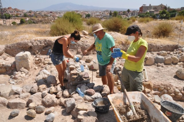 Maintenance and restoration work at the archaeological site of