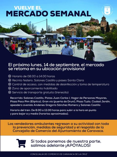El Mercado Semanal retoma la actividad en su ubicación provisional tras el acuerdo con el Ayuntamiento por mayoría de los vendedores ambulantes - 1, Foto 1