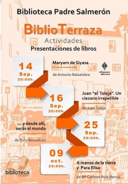 Los exteriores de la biblioteca municipal acogerán las presentaciones de cuatro libros - 1, Foto 1