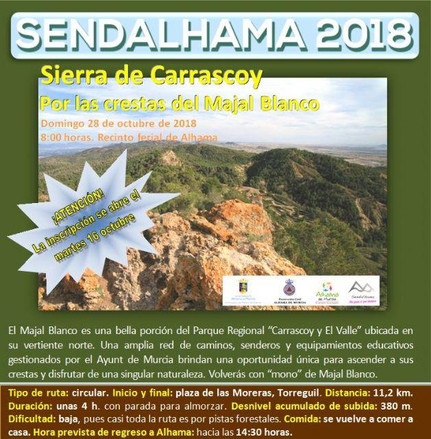 Abierto el plazo de inscripción para las últimas dos rutas de Sendalhama 2018, Foto 2