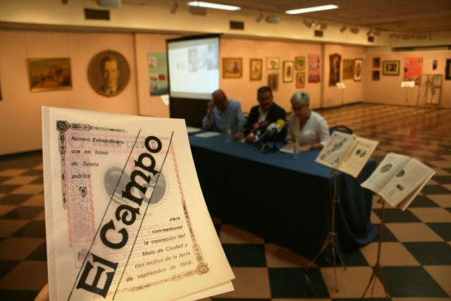 """The magazine """"Totana Ciudad, 1918"""" is presented, in a facsimile edition, on the occasion of the celebration of the centennial cultural events, Foto 2"""