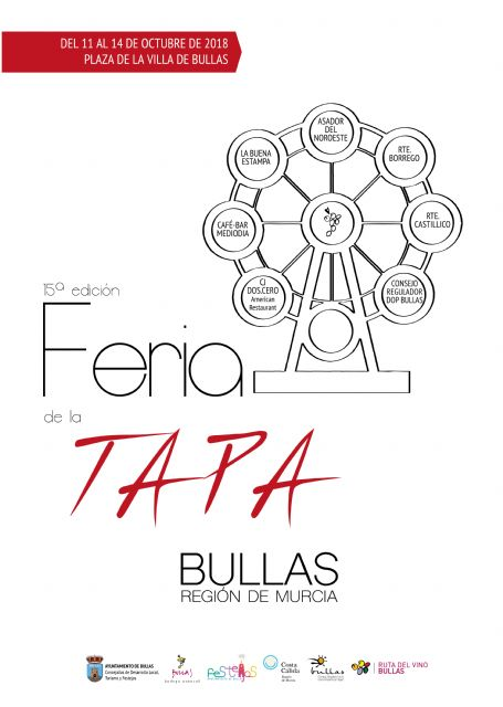 Bullas celebra desde hoy hasta el domingo la XV Feria de la Tapa - 1, Foto 1