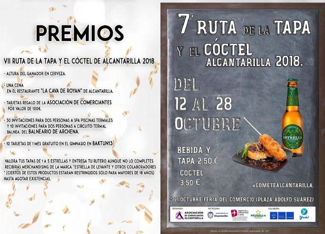 Mañana viernes se inaugura en Alcantarilla la séptima Ruta de la Tapa y el Cóctel, que se celebrará en nuestra ciudad del 12 al 28 de octubre, con 21 establecimientos participando en la misma - 1, Foto 1