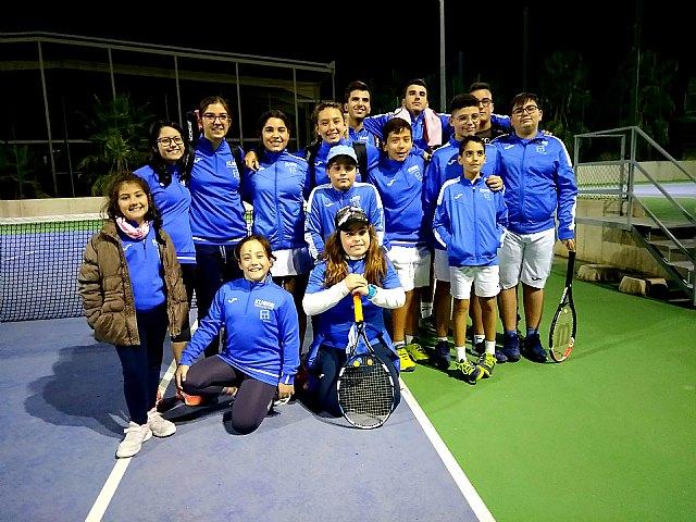 Victoria del Club de Tenis Kuore de Totana frente a la Escuela de Tenis de la Alcayna en la 2º jornada de Liga Regional Interescuelas 2018/2019