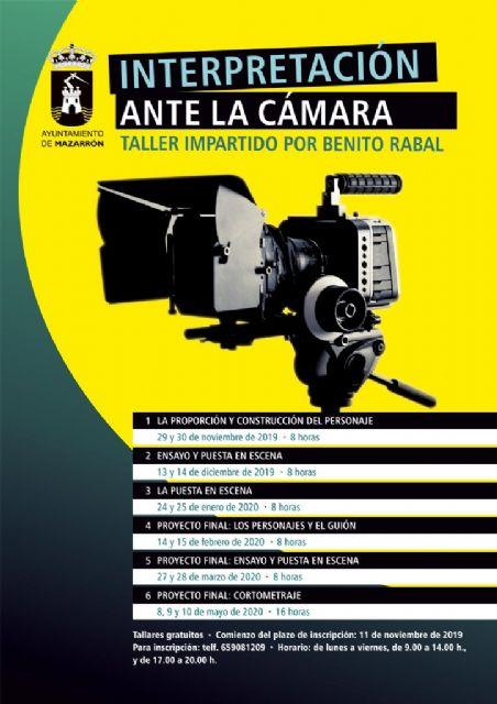 El taller Interpretación ante la cámara de Benito Rabal ahondará en la construcción de los personajes en el cine - 1, Foto 1