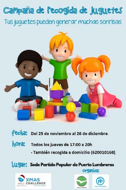 El PP de Puerto Lumbreras se suma al reto solidario de recoger juguetes para los niños más necesitados - 1, Foto 1