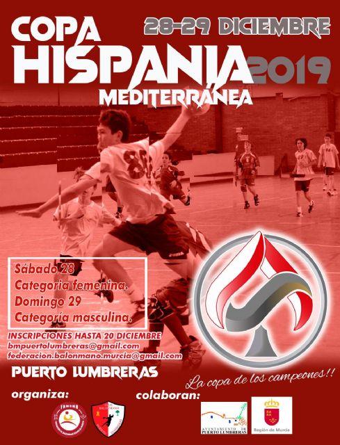 Puerto Lumbreras acogerá la II edición de la Copa Hispania Mediterránea los días 28 y 29 de diciembre - 1, Foto 1