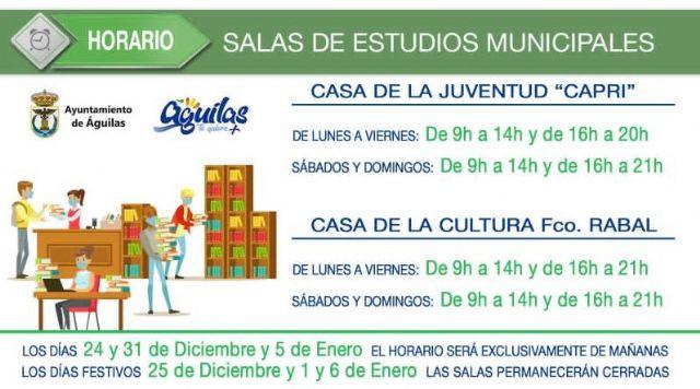 Nuevo horario de las salas de estudio de la localidad durante el periodo navideño - 1, Foto 1