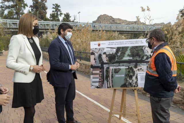 López Miras: La rehabilitación del puente de hierro de Archena es un hito histórico que mejorará la movilidad y el patrimonio municipal - 2, Foto 2