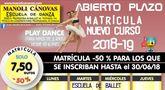 La Escuela de Danza Manoli Cánovas abre el plazo de matrícula para el curso 2018-19