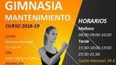 El programa municipal de Gimnasia de Mantenimiento para la temporada 2018/19 comenzará a partir del lunes 3 de septiembre