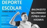 El programa de Deporte Escolar para el curso 2018/19 se pondrá en marcha en los centros de enseñanza de la localidad el viernes 5 de octubre
