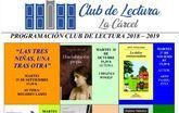 Comienza la programación del programa Club de Lectura 2018/19 con el análisis y lectura de una obra cada mes hasta junio