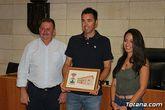 El Ayuntamiento de Totana realiza un reconocimiento institucional al tenista totanero, Pedro Cánovas, reciente campeón de Europa senior +35 con el Murcia Club de Tenis