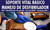 Organizan un Curso de Soporte Vital Básico (SVB) con Manejo de Desfibrilador que se celebrará los días 20 y 21 de octubre