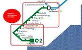 Horarios de transporte alternativo en autob�s por obras en la l�nea de cercan�as de RENFE del 11 al 22 de febrero