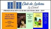 Prosigue la agenda del programa Club de Lectura 2018/19 con el análisis y lectura de una obra cada mes hasta junio
