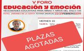 Agotadas las plazas para el V Foro Educación y Emoción que tendrá lugar durante los días 22 y 23 de febrero en Totana