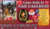 La Hermandad de la Negación y Exaltación de la Cruz celebrará su cena-gala de San Valentin el próximo sábado